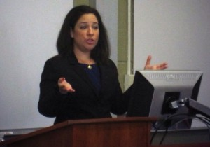 Emily speaking about Immigration Law at the Massachusetts Bar Association.
