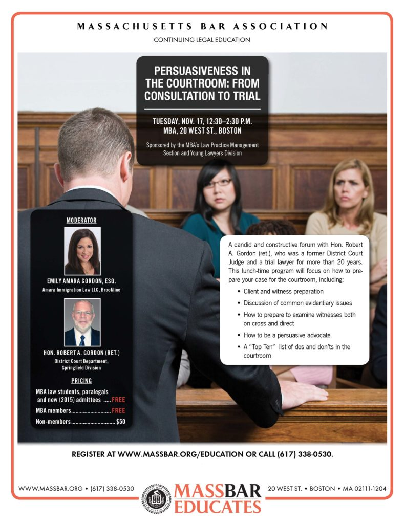MBA Persuasive Courtroom